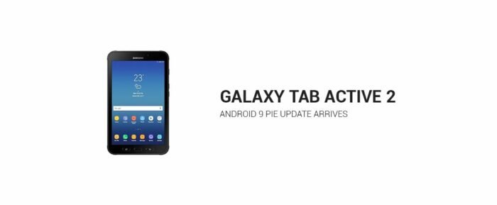 Galaxy Tab Active 2, Android Pie