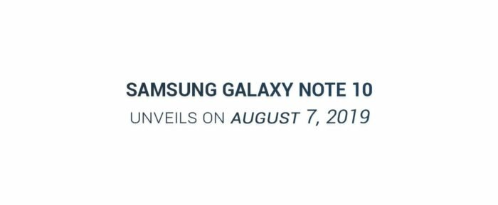 Samsung Galaxy Note 10, Launch Date