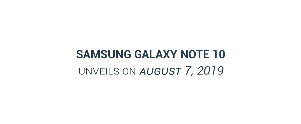 Samsung Galaxy Note 10, Galaxy Note 10 Pro Launch Date Leaked 1