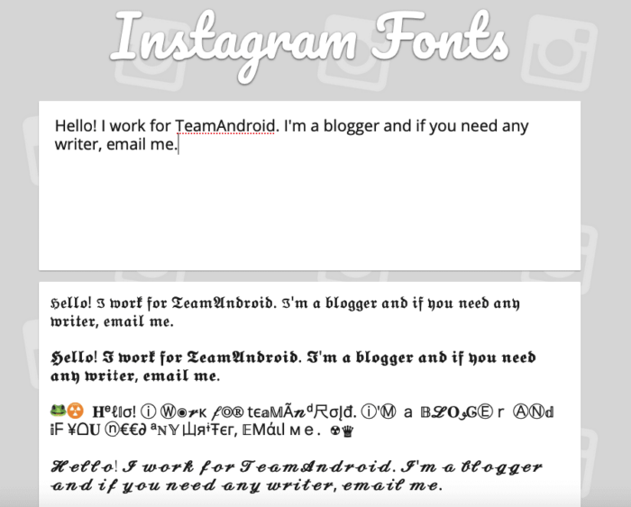 How to Change Instagram Font Style for Captions, Bio and Comments 11