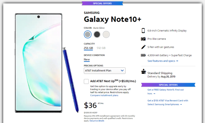 Where to Buy Samsung Galaxy Note 10 and Galaxy Note 10 Plus in US 12