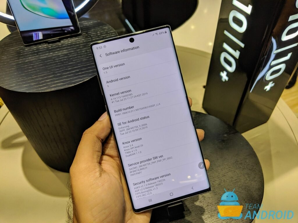 Samsung Galaxy Note 10 Model Numbers / Software Information