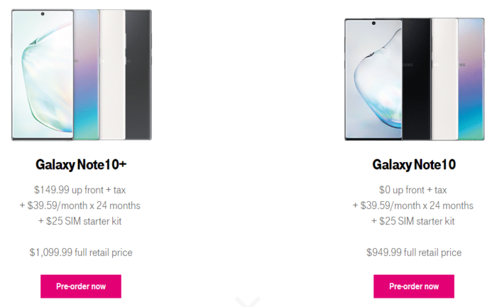 Where to Buy Samsung Galaxy Note 10 and Galaxy Note 10 Plus in US 11