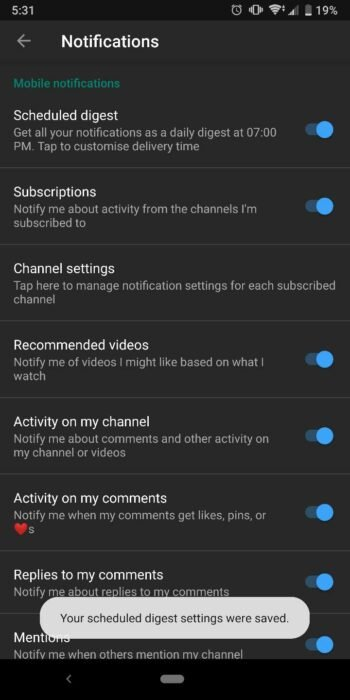 How to Schedule YouTube Notifications on Android - Scheduled Digest 14