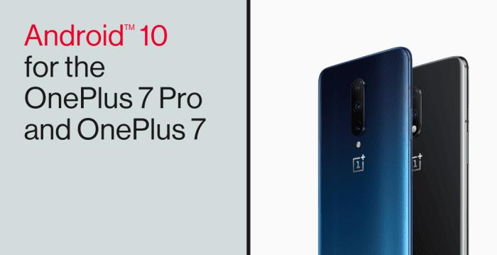 OxygenOS 10, OnePlus 7 / OnePlus 7 Pro