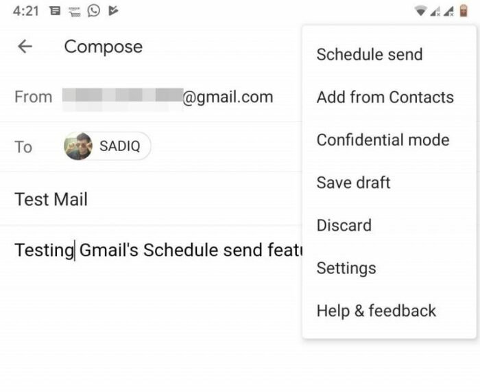 How to Schedule Emails with Gmail App for Android 11