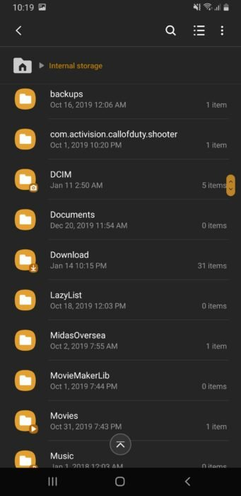 Find APK File in Downloads Folder