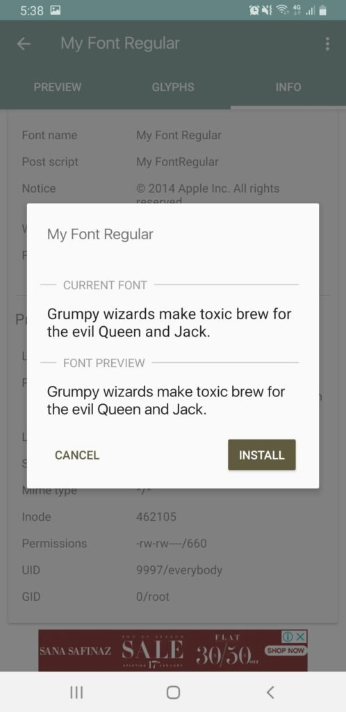 How to Install Custom Fonts on Android Devices 38