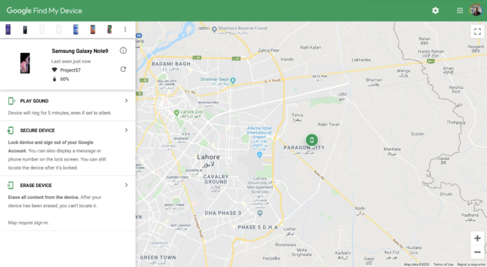 Google Find My Device for Android Phones