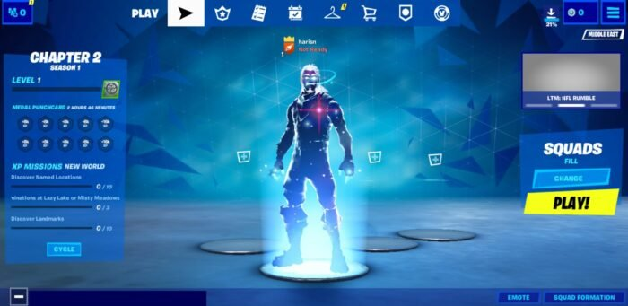 Play Fortnite Android at 60FPS