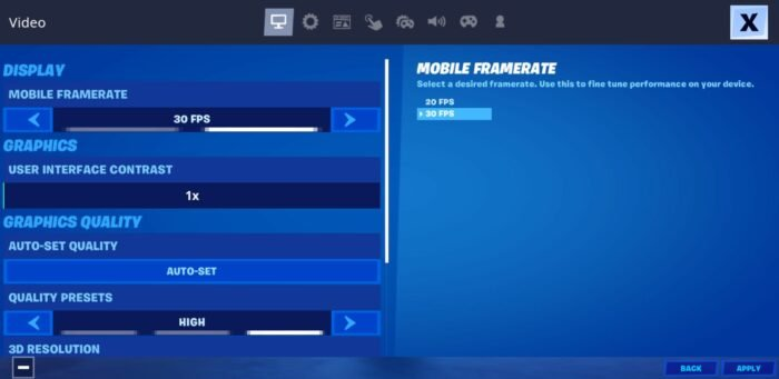 Fortnite Android GameUserSettings.ini File
