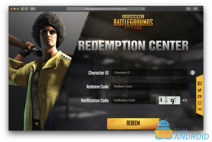 How to Redeem Codes for PUBG Mobile