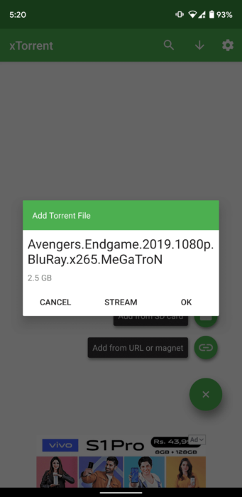 Stream Torrent Movies on Android