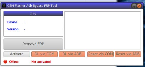GSM Flasher ADB FRP Bypass Tool