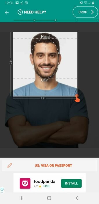 Take Passport Photo on Android