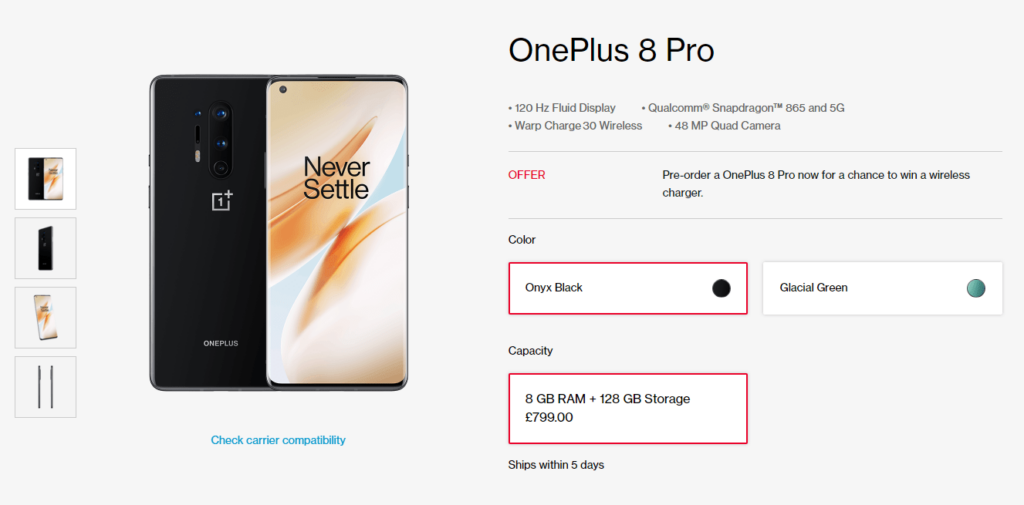 Where to Buy OnePlus 8 and OnePlus 8 Pro in UK / Europe 11