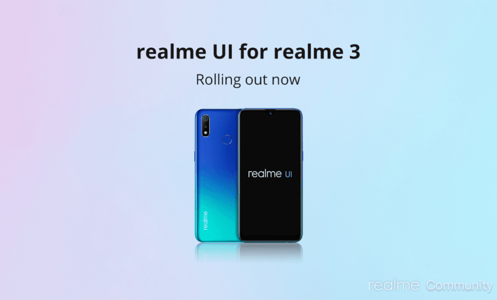 Realme 3 / 3i Android 10 Update
