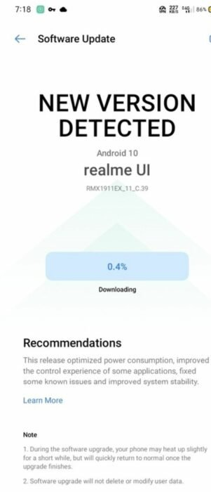 Realme 5 / 5S Android 10 Update | Download Now 11