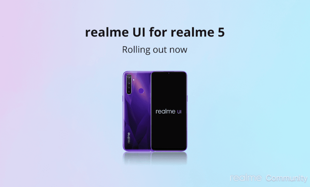 Realme 5 / 5S Android 10 Update
