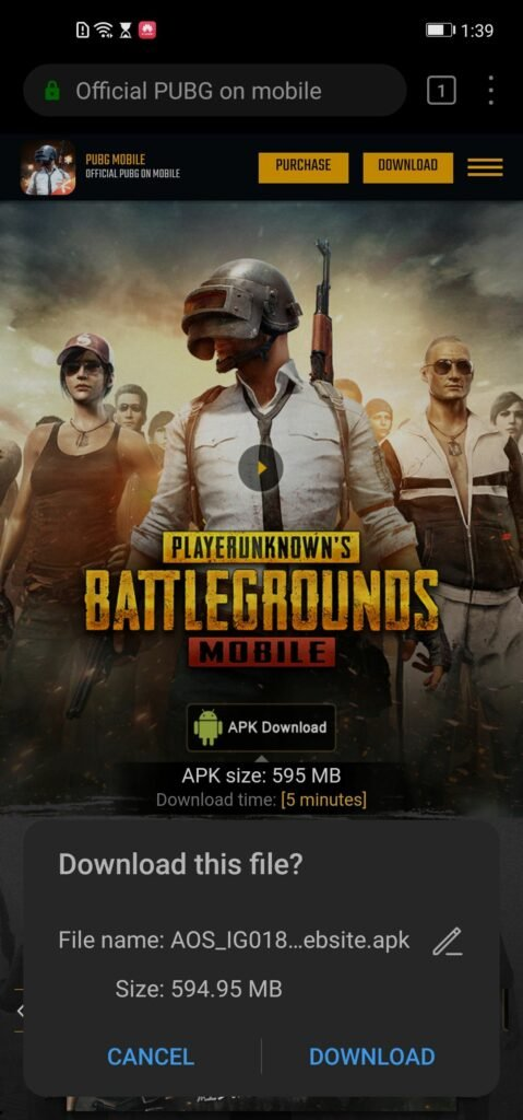 Download PUBG Mobile on Huawei Phones