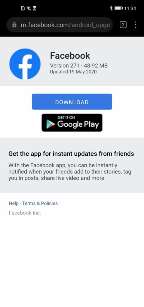 How to Install Facebook on Huawei Phones without Google Play Services 11