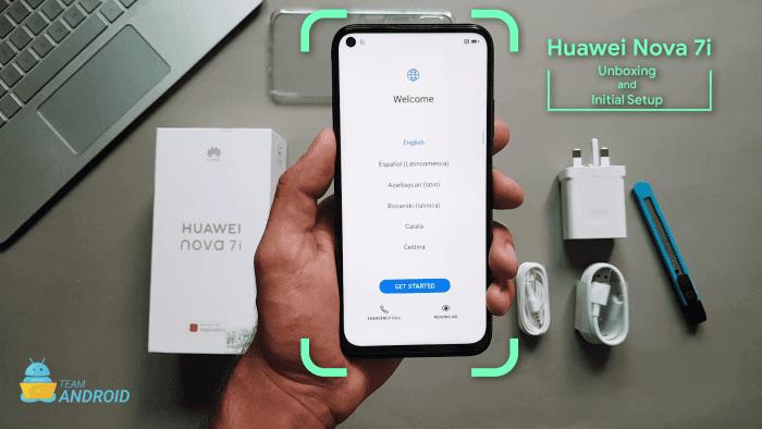 Huawei Nova 7i Unboxing