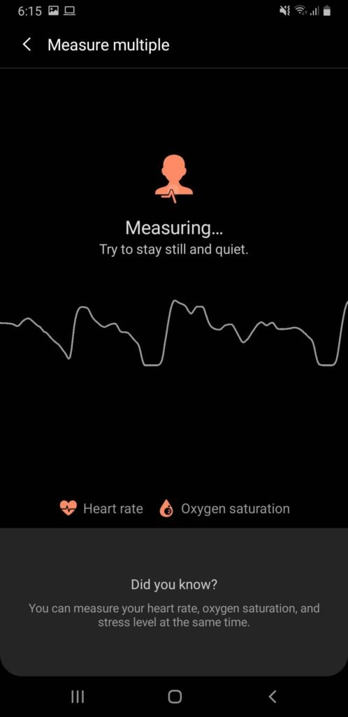 How to Measure Blood Oxygen Saturation Level using Samsung Galaxy Phones | SpO2 Oximeter 4