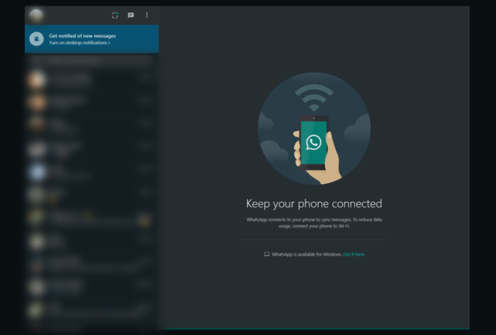 WhatsApp Web Dark Mode