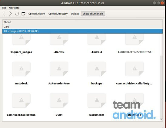 Android File Transfer for Linux 10