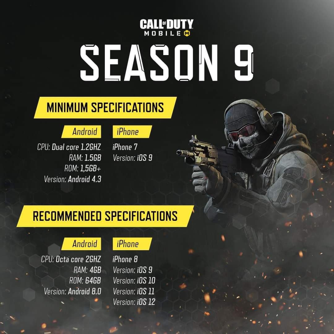 COD Mobile Season 9 Requirements for Android / iOS 1