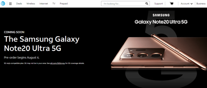 Where to Buy Samsung Galaxy Note 20, Note 20 Ultra in US 11