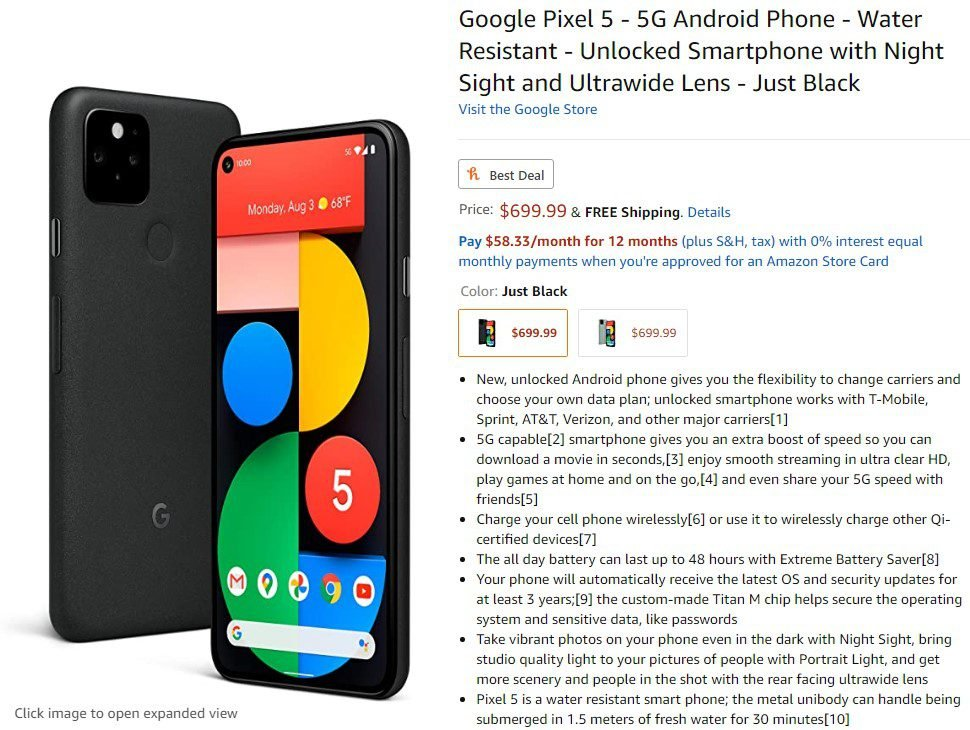 How to Pre-Order Google Pixel 5 13